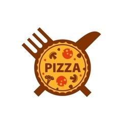 logo pizza vector image