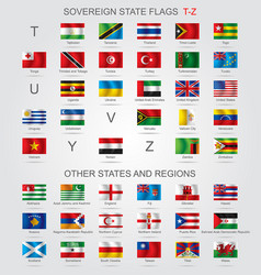 set of sovereign state flags t-z and other vector image