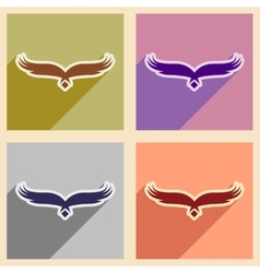 Stylish assembly silhouettes eagle logo vector image vector image