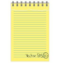 Torn Notebook vector image
