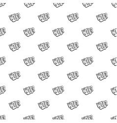 Wtf comic book bubble text pattern vector