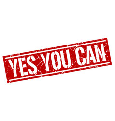 Yes you can square grunge stamp vector