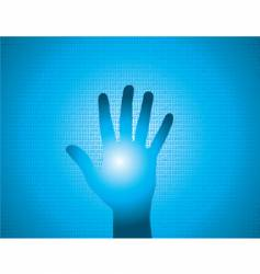 binary hand vector image vector image