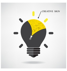 Creative light bulb idea concept with doodle hand vector