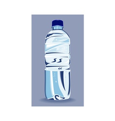 plastic water bottle container vector image