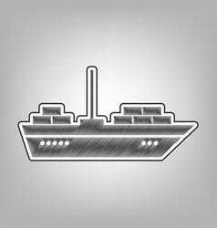 ship sign pencil sketch vector image
