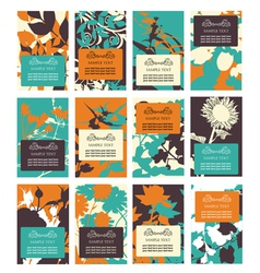 12 floral invitations vector image vector image