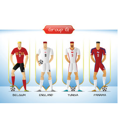 2018 soccer or football team uniform group g vector