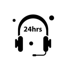 24 hour open icon vector