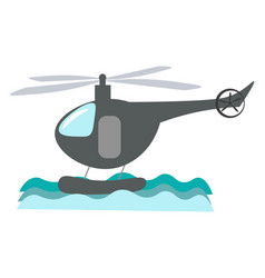 a helicopter or color vector image
