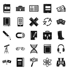 Ability icons set simple style vector