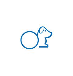 abstract dog logo vector image