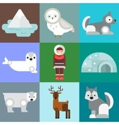 Alaska symbols vector