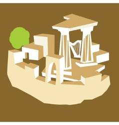 Ancient ruins vector