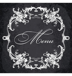 Baroque ornamental frame vector image
