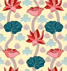Beauty Background with a lotus vector