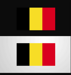 Belgium flag banner design vector