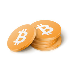 bitcoin cryptocurrency tokens vector image