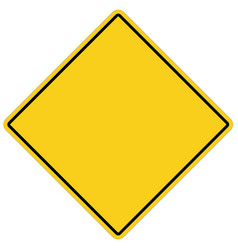 blank yellow sign empty yellow symbol on white vector image
