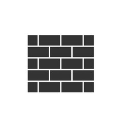 Brick wall black icon vector