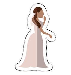 Bride wedding standing pose vector