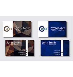 Business cards templates in style the vector