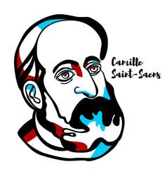 camille saint-saens portrait vector image