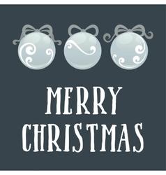 Card with Christmas ball vector image