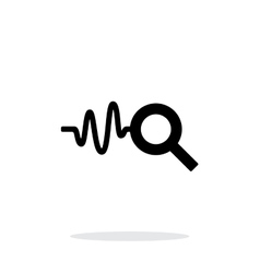 Cardiogram monitoring icon on white background vector image