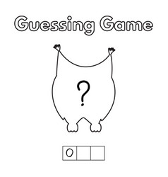 cartoon owl guessing game vector image