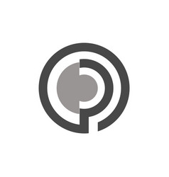 Circle letter p logo vector