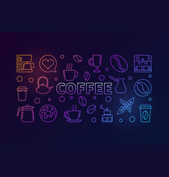 Coffee horizontal colored vector