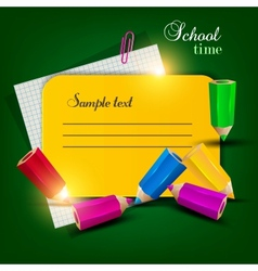 Colorful Note Tag vector image