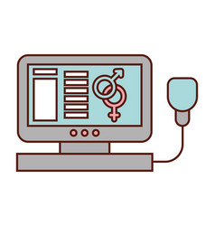 computer medical gender female male symbol vector image