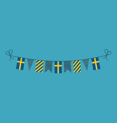 Decorations bunting flags for sweden national day vector