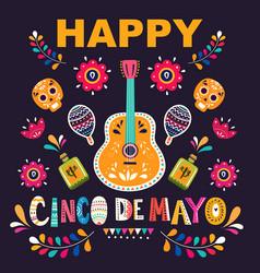 Design for mexican holiday 5 may cinco de mayo vector