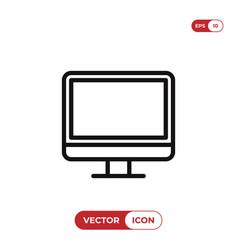 desktop icon vector image