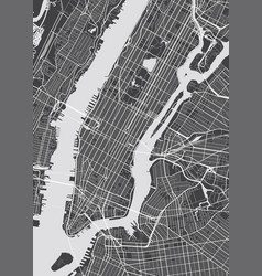 Detailed map new york vector
