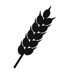 Dried wheat ear icon simple style vector