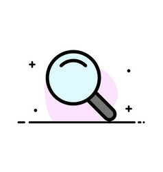 expanded search ui business flat line filled icon vector image