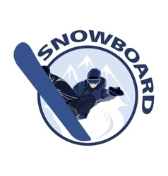 Extreme sport snowboard design Snow and snowboard vector image