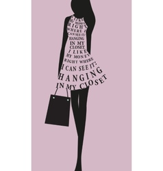 Fashion woman dress from words vector