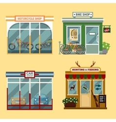 flat buildings that are vector image