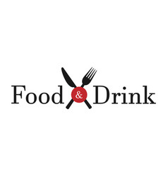 food drink white background vector image