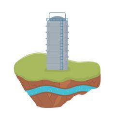 Fracking reservoir tank soil layer water vector