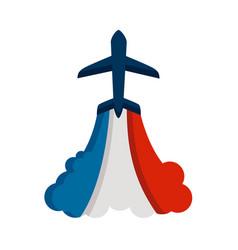 France flag airplane vector