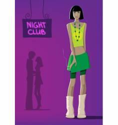 Girl at club vector