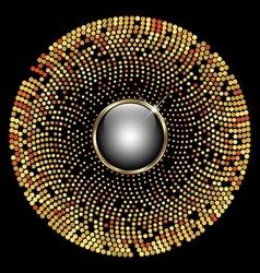 Gold circle mosaic background vector