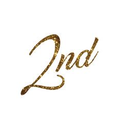 Golden glitter of isolated hand writing word vector