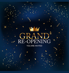 Grand re-opening card business poster background vector